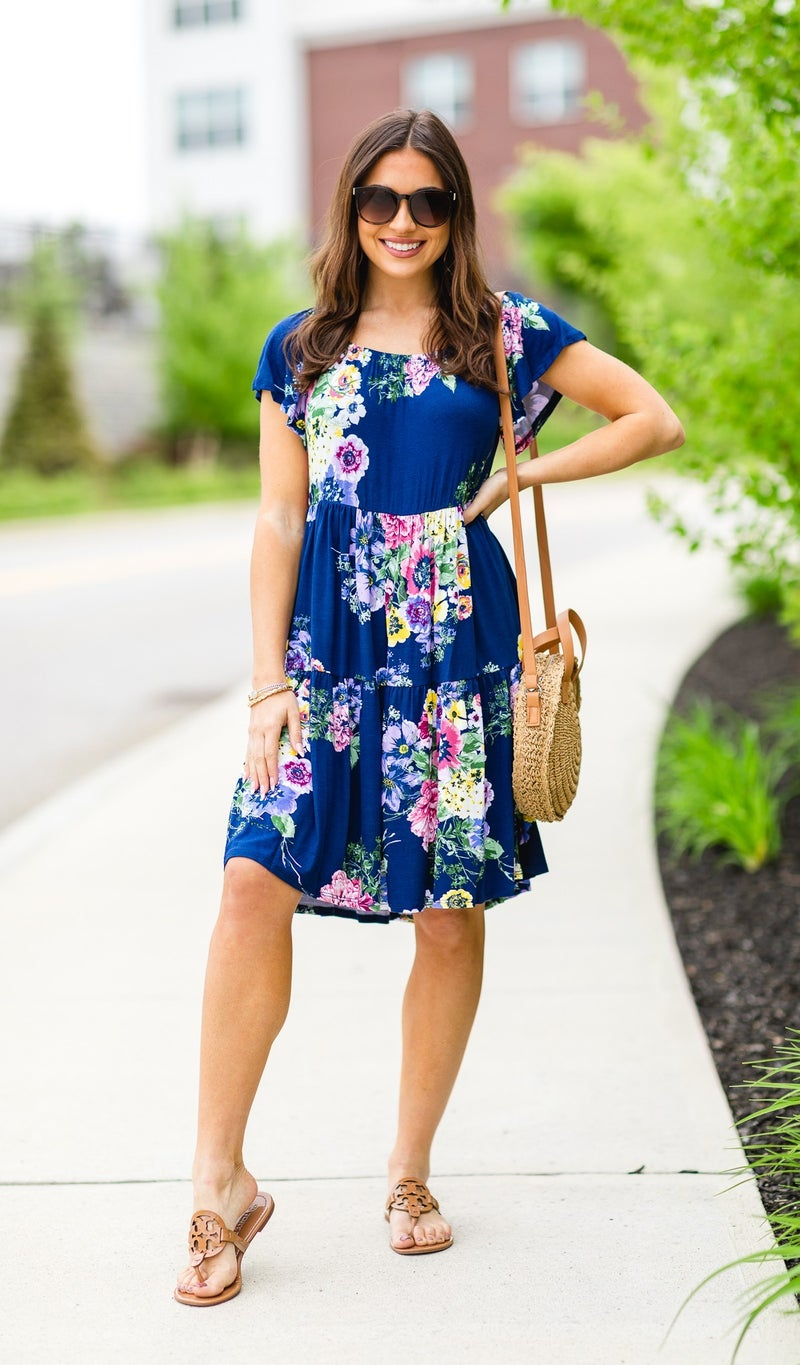 Better With You Dress, Navy Floral