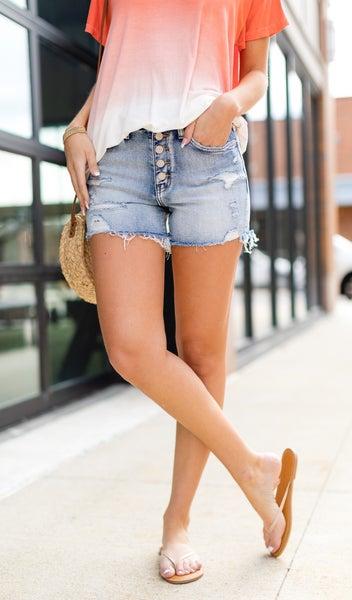 Soaking Up The Sun Denim Shorts