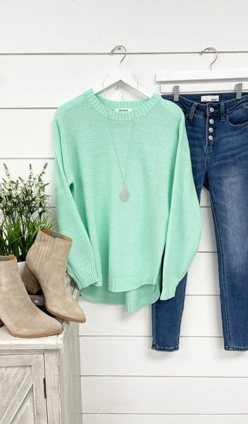 The Kayla Sweater, Mint