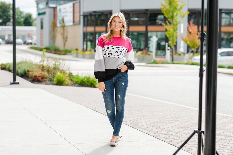 Ways To Go Sweater, Pink