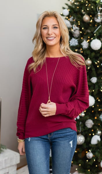 The Jessica Top, Burgundy