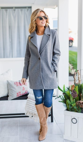 Favorite Feature Jacket, Grey *Final Sale*