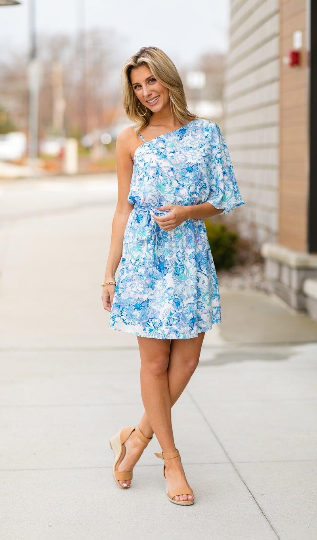 Life In Bloom Dress, Blue
