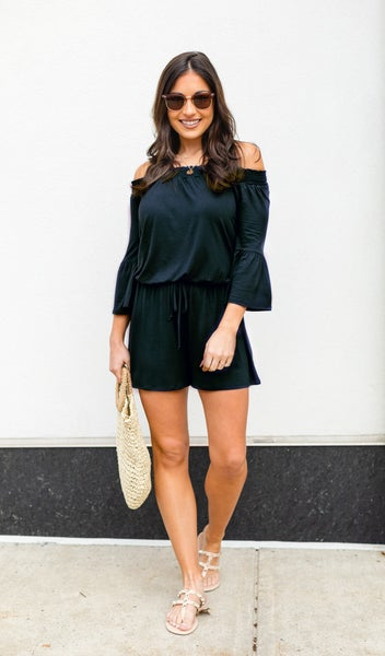 Moment Like This Romper, Black