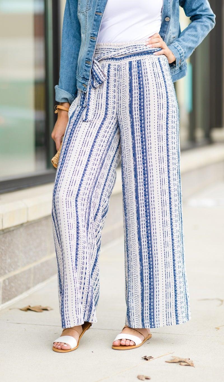 Summer Besos Pant, Blue Print