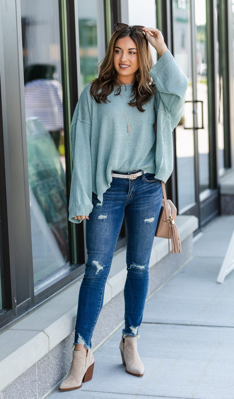New Sage Knit Sweater