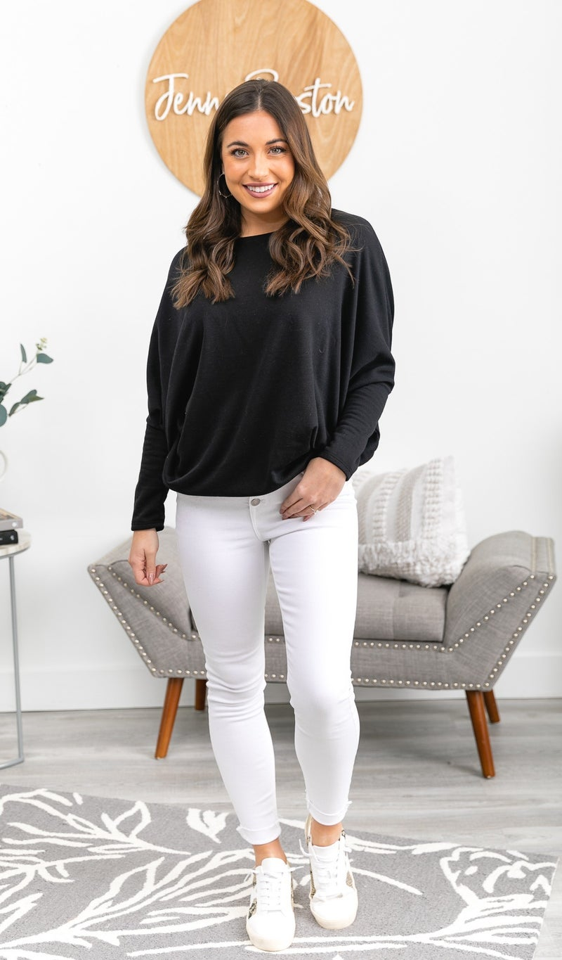 Real Love Tunic Top, Ivory, Black, or Sage