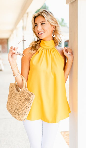 Keeping It Chic Top, Yellow