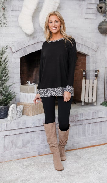 The Are Tunic/ Top, Grey Print