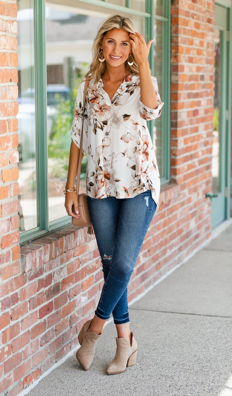 Falling For Print, Ivory