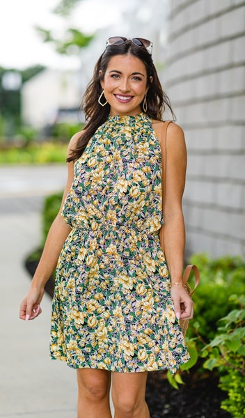 The Kirsty Floral Dress, Yellow