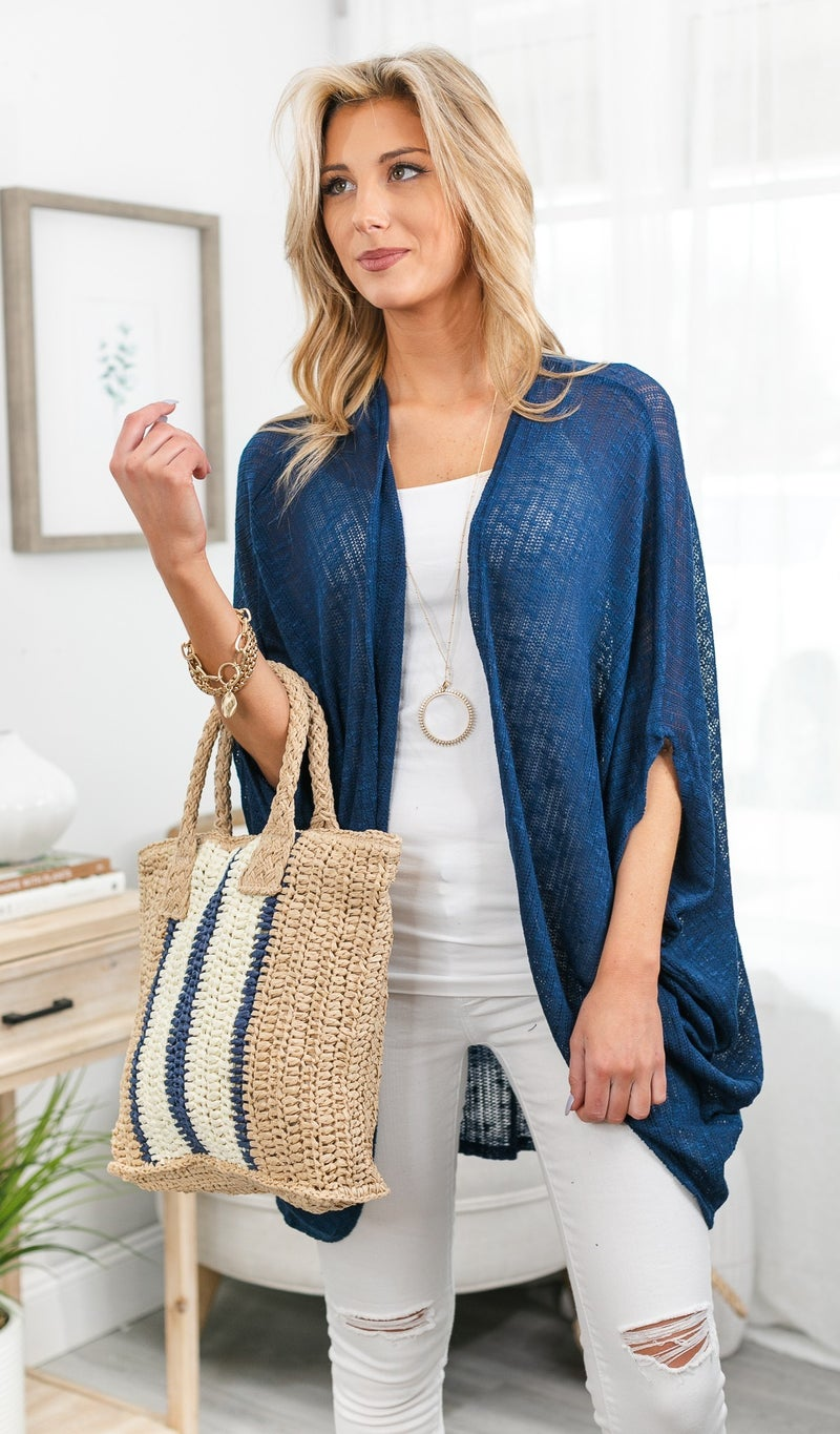 Got You Covered Shawl, Navy