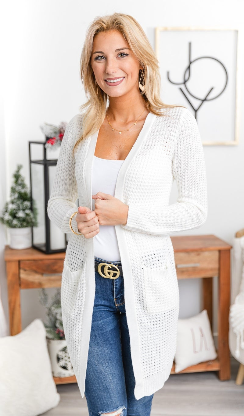 Irreplaceable Cardigan, Ivory