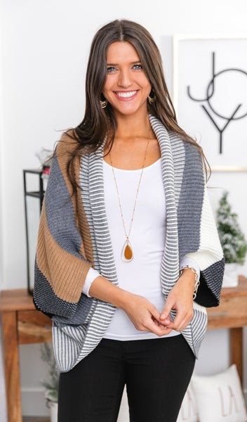 Kingsley Wrap/Cardigan, Grey