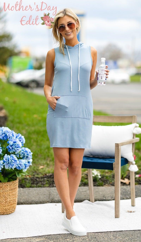 On The Go Dress, Light Blue