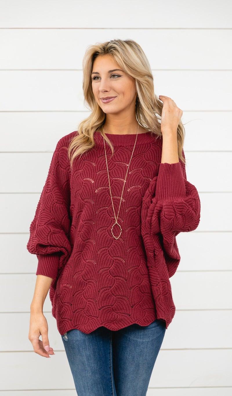 Dreamers Ahead Sweater, Burgundy