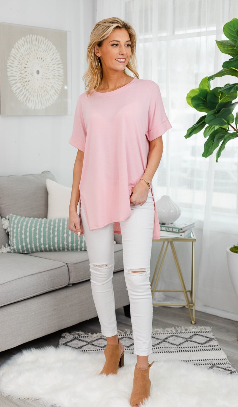 The Isabella Oversized Tee, Pink, Mint or Black