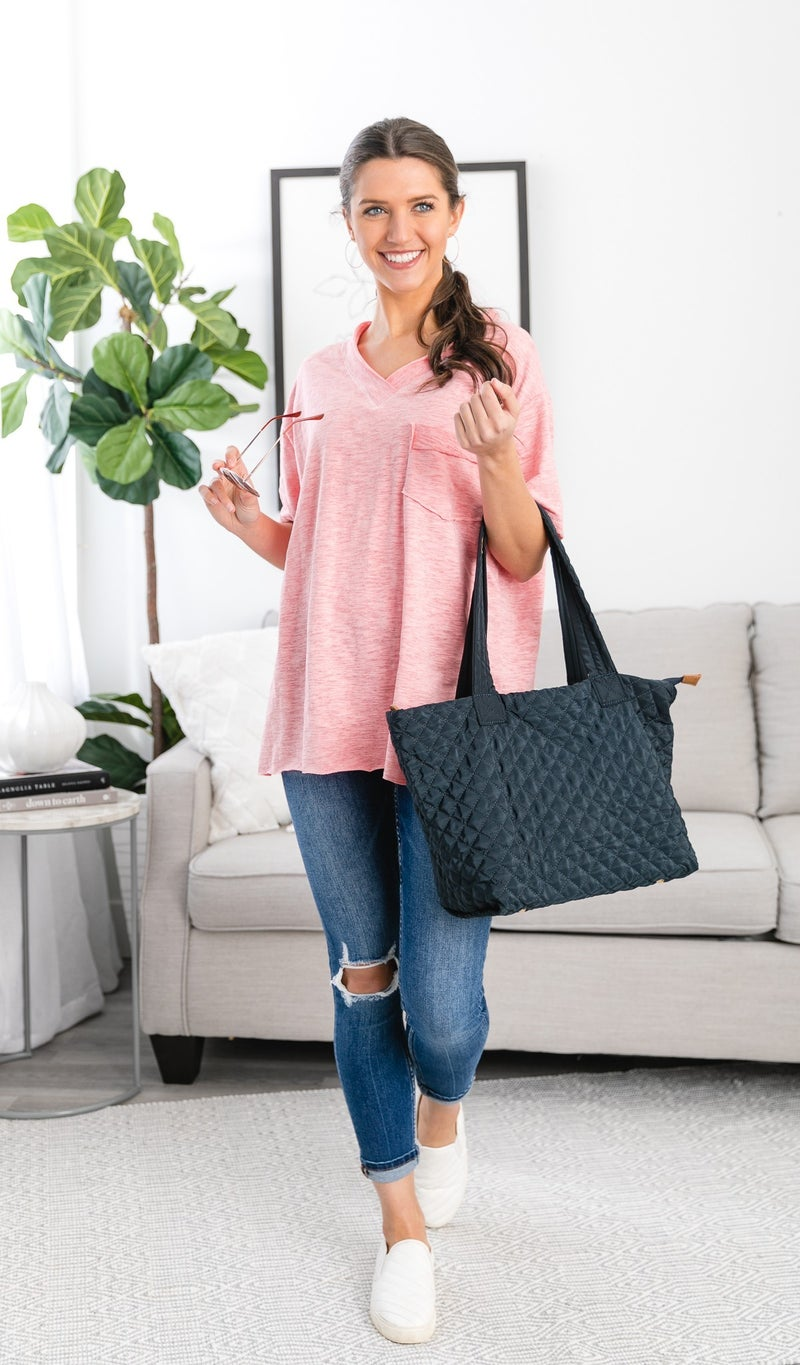 Quilted Classic Carryall, Black