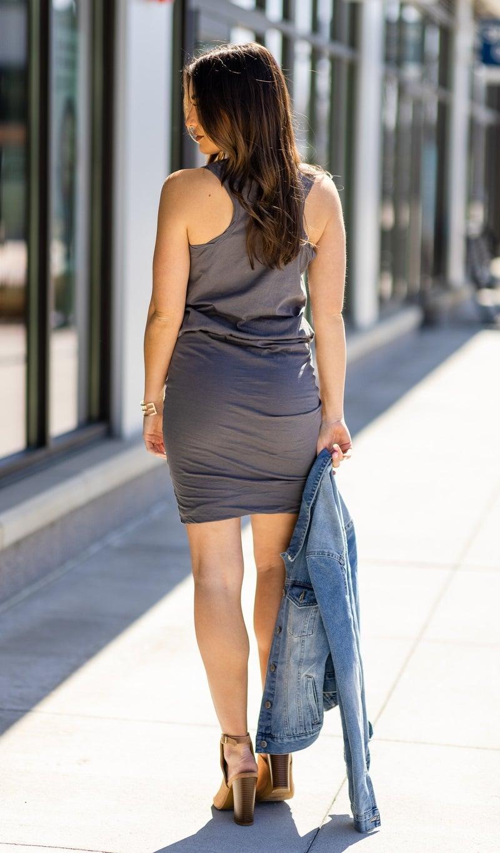 The Kelsea Dress, Carbon