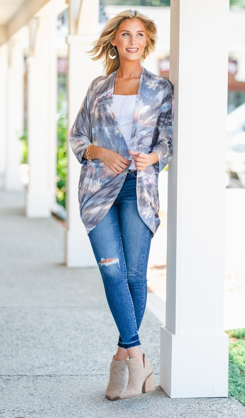 Live Colorfully Cardigan, Tie Dye