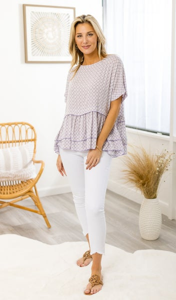 The Maeve Blouse Top, Lavender