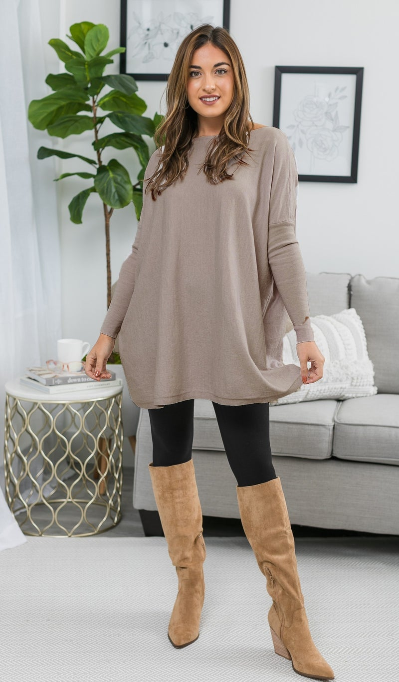 Happens To Be Sweater, Taupe