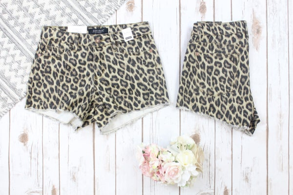 Leopard Cut Off Judy Blue Shorts