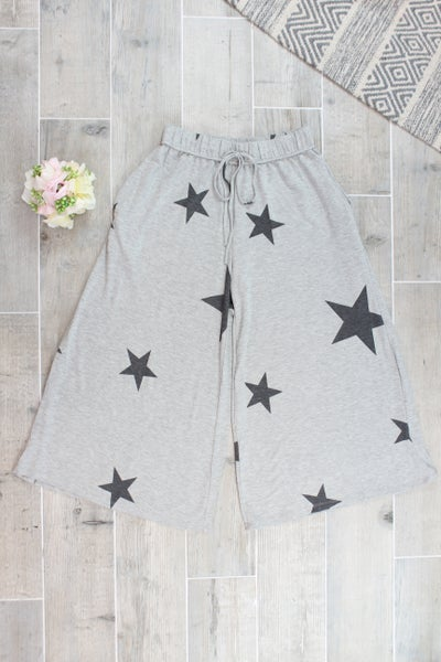 Wide Leg Star Pants