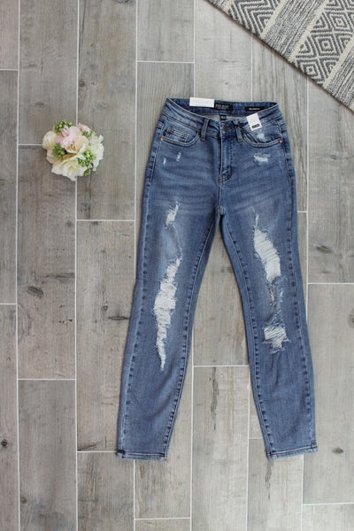Densely Destroyed Judy Blue Jeans