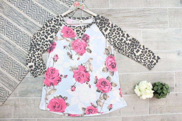 The Leopard Rose Top