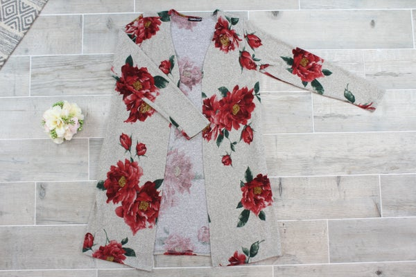 Gorgeous In Floral Cardigan