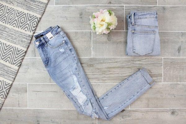 Distressed Skinny Fit Judy Blue Jeans
