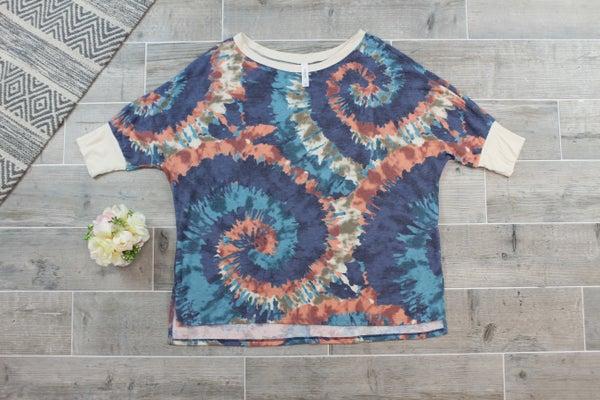 Spiral Tie Dye Top