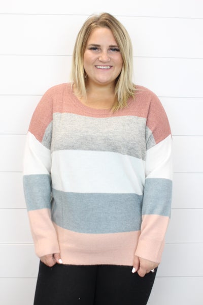 Comfy Color Block Sweater