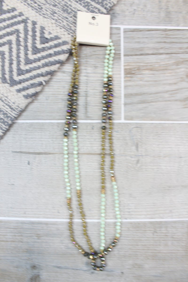 Gorgeous In Green Bead Layering Necklace