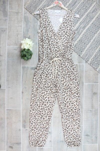 Wild Leopard Sleeveless Jumpsuit