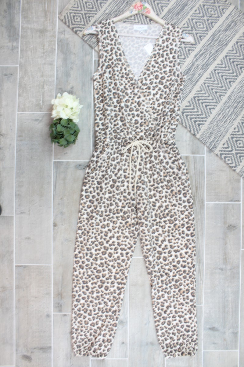 Wild Leopard Sleeveless Jumpsuit