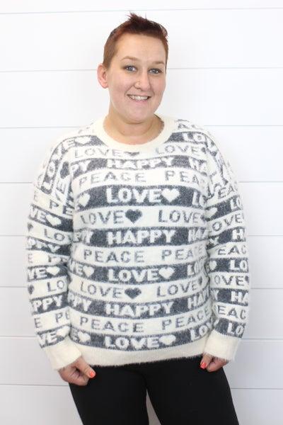 Peace Happy Love POL Sweater