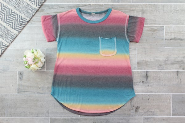 The Faded Rainbow Top