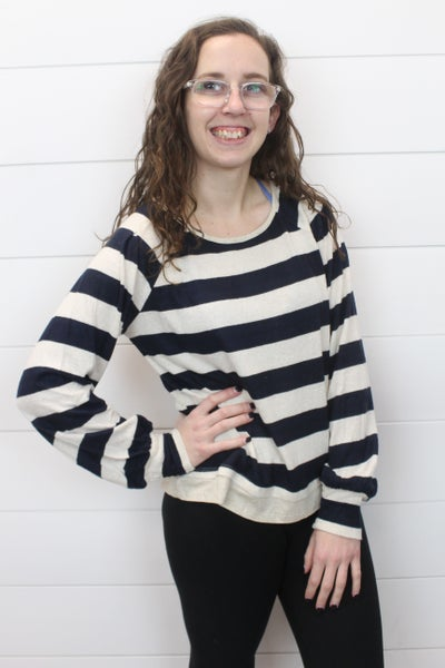 Soft Long Sleeve Striped Top