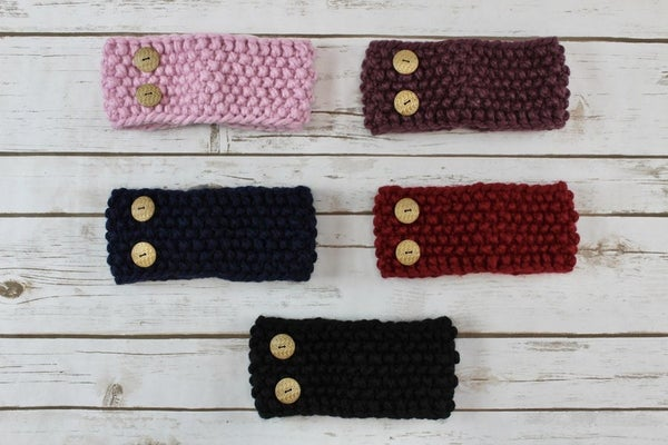 Button Band Head Band