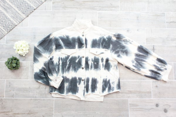Button Down POL Tie Dye Jacket