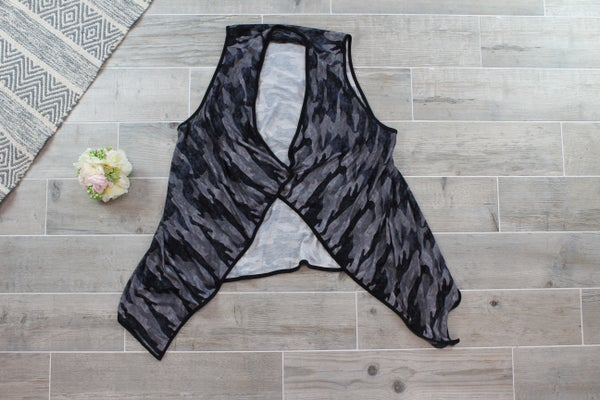 Midnight Camo Draped Vest