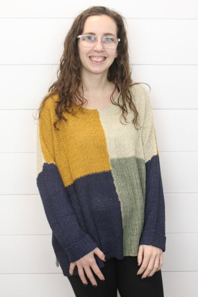 Cozy And Cool Color Block Sweater