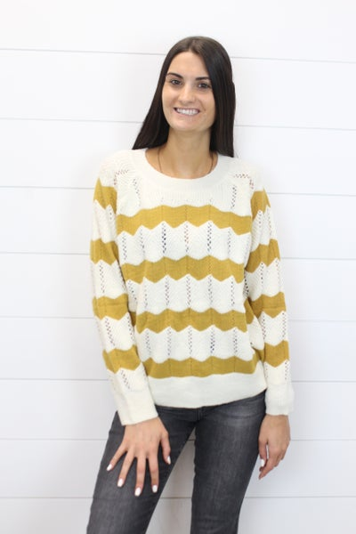 Chevron Detail Sweater