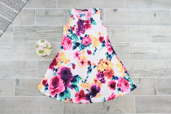 Fancy In Floral Tunic Top