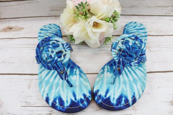 Blue Moon Tie Dye Sandals