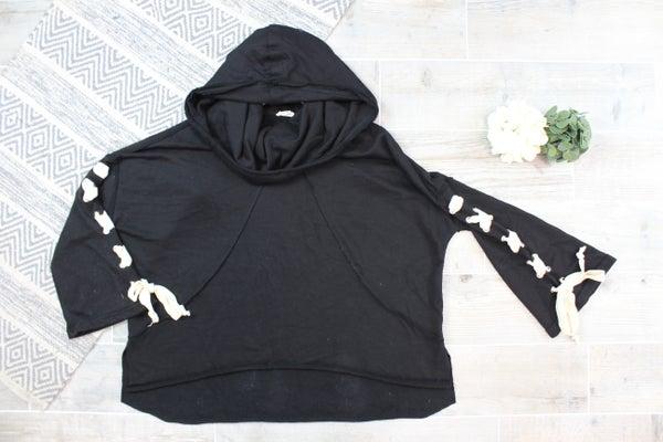 Adorable Black POL Hoodie