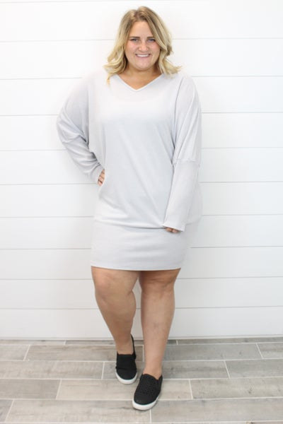 Batwing Sleeve Dress