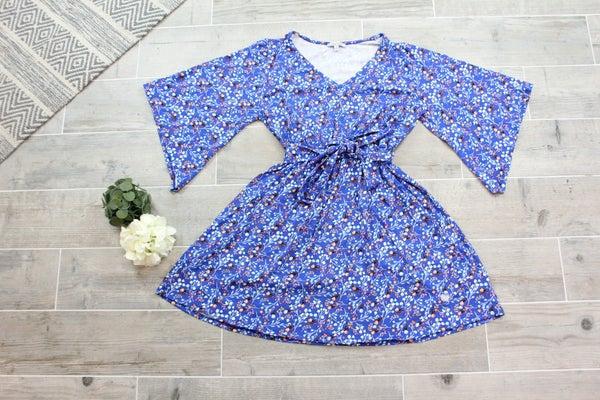 Beautiful Bell Sleeve Floral Dress